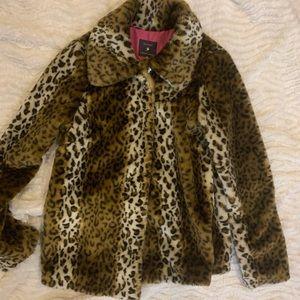 Forever21 faux fur cheetah leopard coat jacket